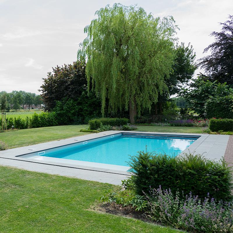 Landelijke tuin met zwembad for Tuin met zwembad